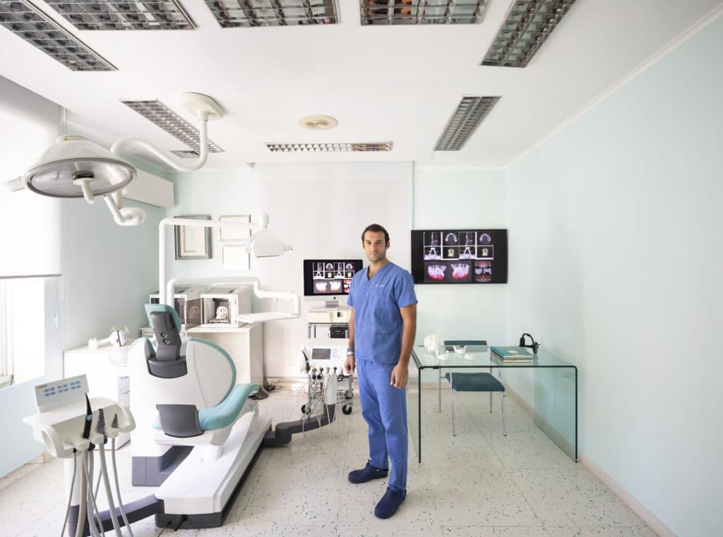 Sala operatoria Clinica Cicero - Misure contrasto Coronavirus dentista
